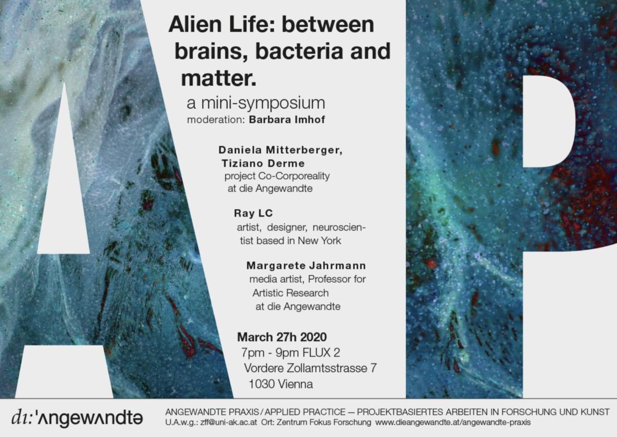 Alien Life: between brains, bacteria and matter. (postponed)